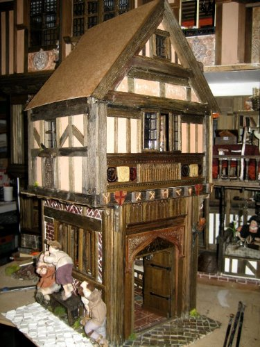 theinfill dolls house blog - Medieval, Tudor, Jacobean 1:12 dolls house – Porch working on the other side