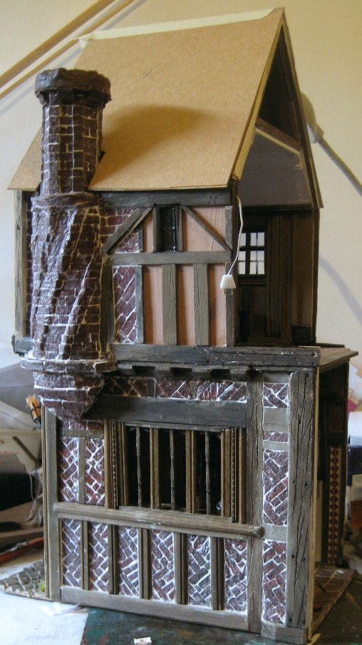 theinfill dolls house blog - Medieval, Tudor, Jacobean 1:12 dolls house – Porch 3 layer-cake room in the eaves