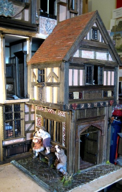 theinfill dolls house blog - Medieval, Tudor, Jacobean 1:12 dolls house – Porch working on the other side - tiling
