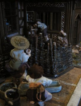 theinfill dolls house blog - the infill - Medieval, Tudor, Jacobean 1:12 dolls house - dressing homemade 1:12 figures