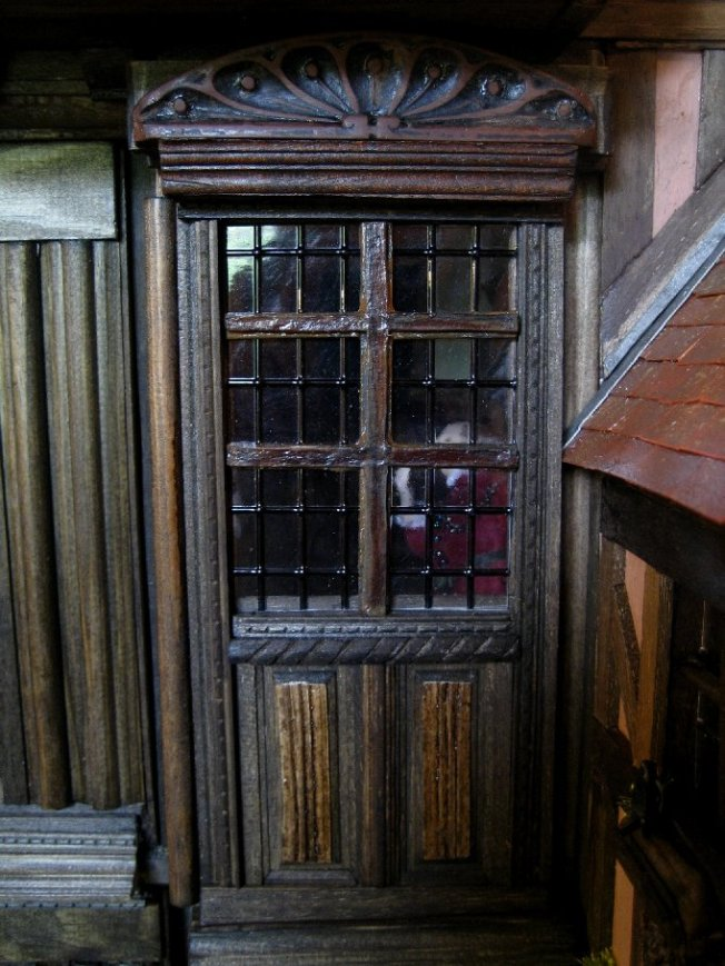 theinfill dolls house blog - the infill - Medieval, Tudor, Jacobean 1:12 dolls house - sliding wall for corridor