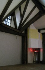 theinfill dolls house blog - mocking in a corner chimney