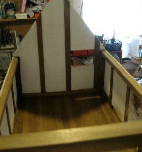 theinfill dolls house blog - semi sealed but firmly fixed central back block