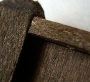 theinfill Medieval, Tudor, Jacobean 1:12 dolls house blog - the infill dolls house blog - bedhead - rough tenon joint for panel