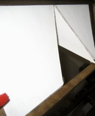 theinfill dolls house blog - trying dormer on for size internal