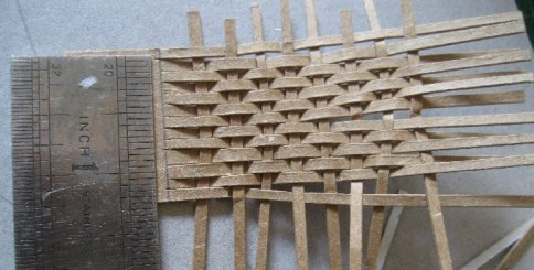 theinfill dolls house blog - cardboard bit too neat for lathe - to be messed up
