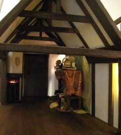 lights and beams and fireplace - theinfill dolls house blog