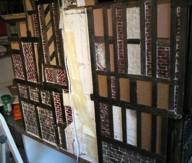 theinfill Medieval, Tudor, Jacobean 1:12 dolls house blog - the infill dolls house blog – overview of job so far