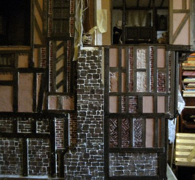 theinfill Medieval, Tudor, Jacobean 1:12 dolls house blog - the infill dolls house blog – over view of two halves together