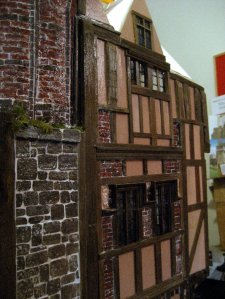 theinfill Medieval, Tudor, Jacobean 1:12 dolls house blog - the infill dolls house blog – brick stack and extra brick panels tog