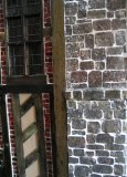 theinfill Medieval, Tudor, Jacobean 1:12 dolls house blog - the infill dolls house blog – chimney stack removable panel view of central where meets fixed section from front