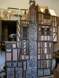 theinfill Medieval, Tudor, Jacobean 1:12 dolls house blog - the infill dolls house blog – all of left side of house so far
