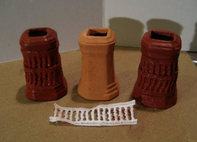 theinfill Medieval, Tudor, Jacobean 1:12 dolls house blog - the infill dolls house blog – dressing up standard small chimney pots