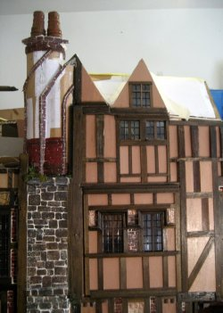 theinfill Medieval, Tudor, Jacobean 1:12 dolls house blog - the infill dolls house blog – egg carton bricks - today's workings