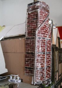 theinfill Medieval, Tudor, Jacobean 1:12 dolls house blog - the infill dolls house blog – chimney work side view
