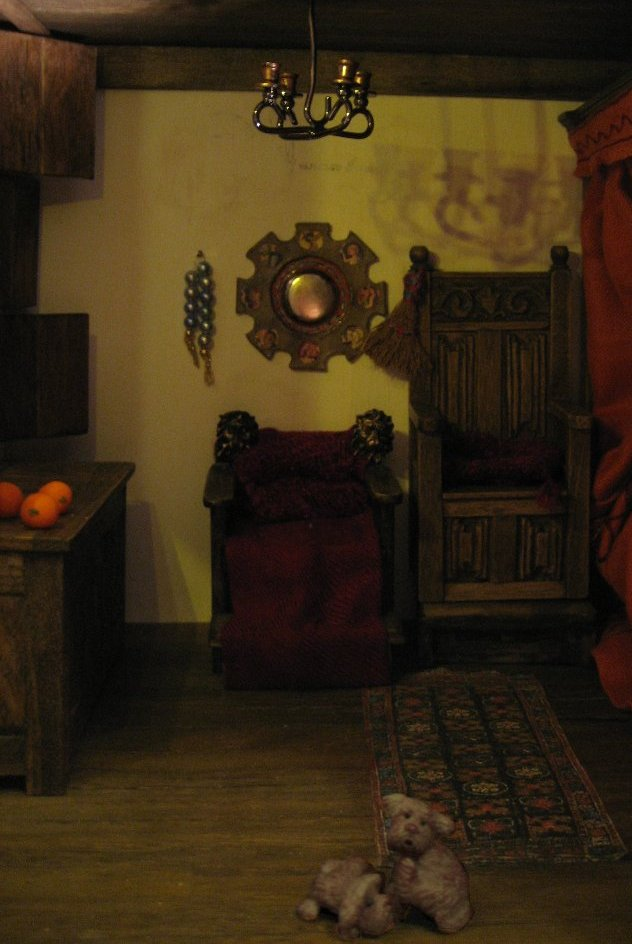 theinfill Medieval, Tudor, Jacobean 1:12 dolls house blog - the infill dolls house blog – own construction of the Arnoflini portrait room