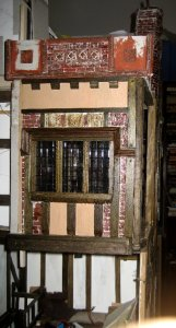 theinfill Medieval, Tudor, Jacobean 1:12 dolls house blog - the infill dolls house blog – trying out roof-line panels edging roof leads 2