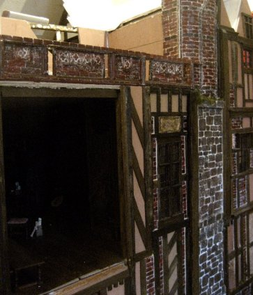 theinfill Medieval, Tudor, Jacobean 1:12 dolls house blog - the infill dolls house blog – view of complete run and building