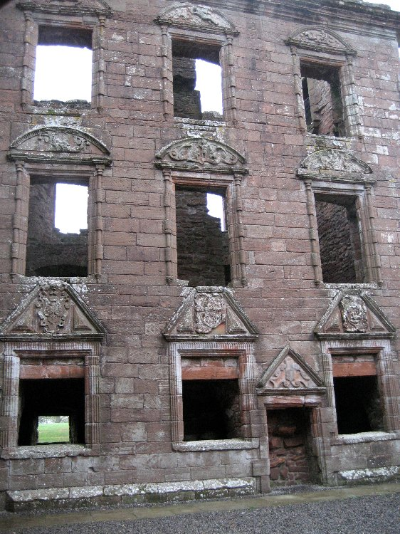 theinfill Medieval, Tudor, Jacobean 1:12 dolls house blog - the infill dolls house blog – Caerlaverock Castle - from inside - the 1630s new build all from archetectural fashion plates of the time