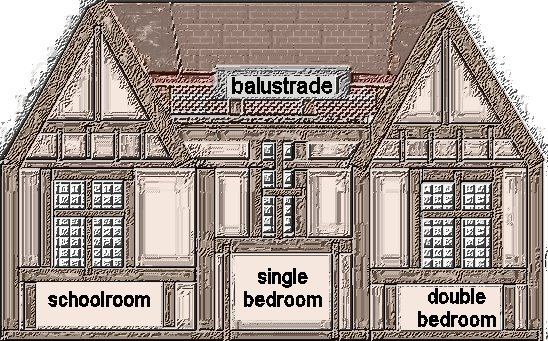 theinfill Medieval, Tudor, Jacobean 1:12 dolls house blog - the infill dolls house blog – very rough mock-up of across attic frontage