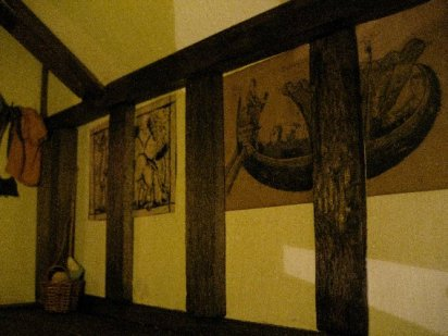 theinfill Medieval, Tudor, Jacobean 1:12 dolls house blog - the infill dolls house blog – boy's bedroom - wall decorations on the right