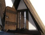 theinfill Medieval, Tudor, Jacobean 1:12 dolls house blog - the infill dolls house blog – asymmetrical dormer with added shutter