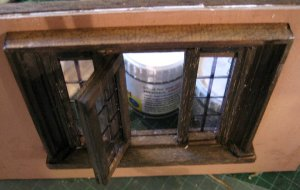 theinfill Medieval, Tudor, Jacobean 1:12 dolls house blog - the infill dolls house blog – building a window from bits stuck to the wall - adding an opening window