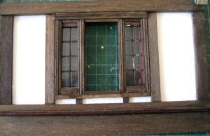 theinfill Medieval, Tudor, Jacobean 1:12 dolls house blog - the infill dolls house blog – building a window from bits stuck to the wall - the inner face
