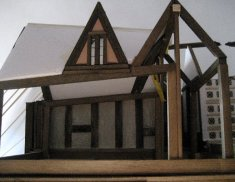 theinfill Medieval, Tudor, Jacobean 1:12 dolls house blog - the infill dolls house blog – right attic removable section side view