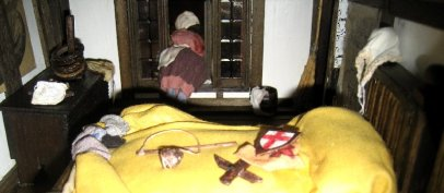 theinfill Medieval, Tudor, Jacobean 1:12 dolls house blog - the infill dolls house blog – the girl at the window - from inside the room