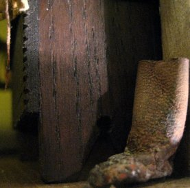theinfill Medieval, Tudor, Jacobean 1:12 dolls house blog - the infill dolls house blog – boy's bedroom - single muddy leather boot