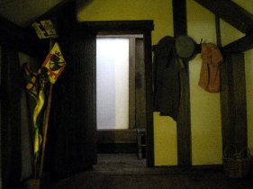 theinfill Medieval, Tudor, Jacobean 1:12 dolls house blog - the infill dolls house blog – boy's bedroom - banners and streamers for acting out games 2