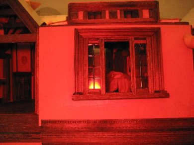 theinfill Medieval, Tudor, Jacobean 1:12 dolls house blog - the infill dolls house blog – outer view of wall slotted in place