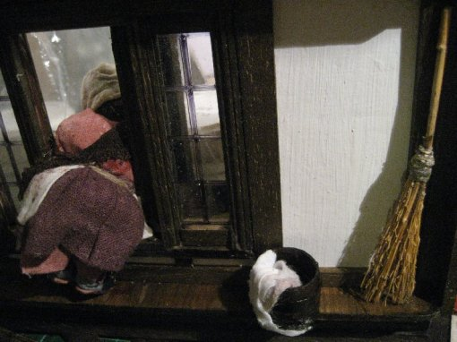 theinfill Medieval, Tudor, Jacobean 1:12 dolls house blog - the infill dolls house blog – the girl at the window from the inside 2