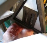 theinfill Medieval, Tudor, Jacobean 1:12 dolls house blog - the infill dolls house blog – working on inner face of dormer in place