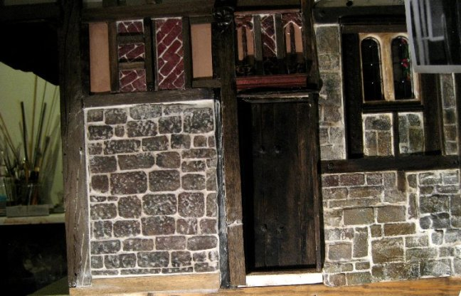 theinfill Medieval, Tudor, Jacobean 1:12 dolls house blog - detail around side door