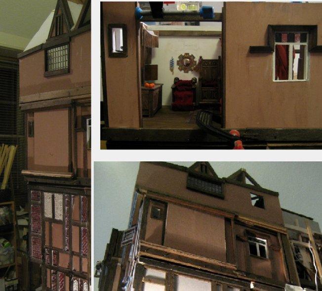 theinfill Medieval, Tudor, Jacobean 1:12 dolls house blog - the infill dolls house blog – External view Arnolfini bedroomo