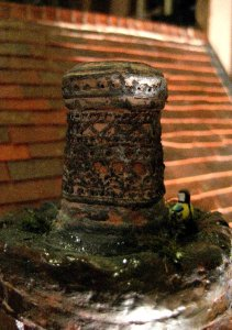 theinfill Medieval, Tudor, Jacobean 1:12 dolls house blog - the infill dolls house blog – dressing up the porch chimney pot