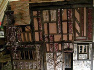 theinfill Medieval, Tudor, Jacobean 1:12 dolls house blog - the infill dolls house blog – fitting porch to main house