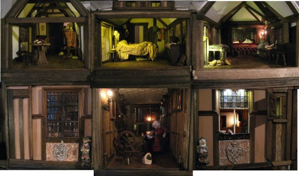 theinfill Medieval, Tudor, Jacobean 1:12 dolls house blog - the infill dolls house blog – top two floors of four