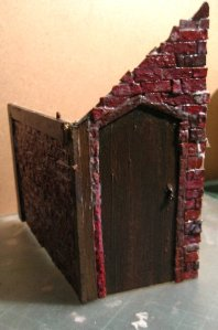 theinfill Medieval, Tudor, Jacobean 1:12 dolls house blog - the infill dolls house blog – two sides in card for a corner shed
