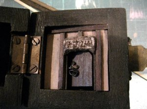 theinfill Medieval, Tudor, Jacobean 1:12 dolls house blog - the infill dolls house blog – lid of box intenal view of selected box