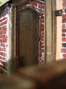 theinfill Medieval, Tudor, Jacobean 1:12 dolls house blog - the infill dolls house blog – two sides in card for a corner shed 2