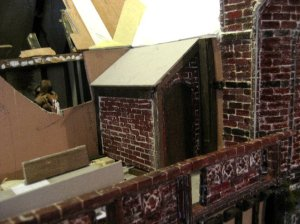 theinfill Medieval, Tudor, Jacobean 1:12 dolls house blog - the infill dolls house blog – two sides in card for a corner shed 3