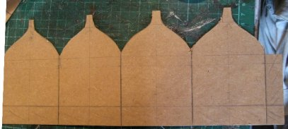 theinfill Medieval, Tudor, Jacobean 1:12 dolls house blog - the infill dolls house blog – Cut out of 2nd attempt at cupola shape in card