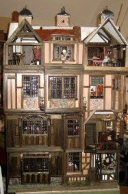 theinfill Medieval, Tudor, Jacobean 1:12 dolls house blog - the infill dolls house blog – 3 shapes full frontage of house