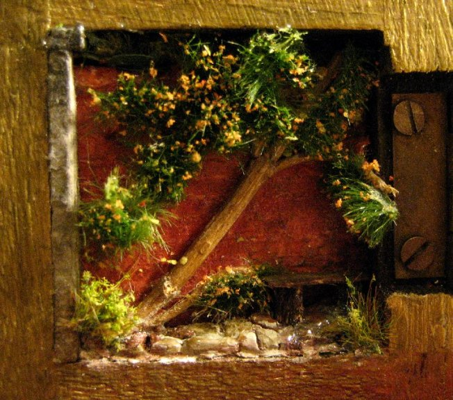 theinfill Medieval, Tudor, Jacobean 1:12 dolls house blog - the infill dolls house blog – completed inner of base of box