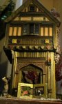 theinfill Medieval, Tudor, Jacobean 1:12 dolls house blog - the infill dolls house blog – the completed inside of the box in front of 1:12 porch