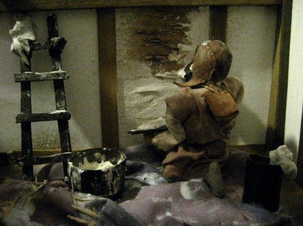 theinfill Medieval, Tudor, Jacobean 1:12 dolls house blog - the infill dolls house blog – plasterer at work