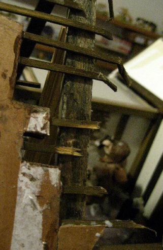 theinfill Medieval, Tudor, Jacobean 1:12 dolls house blog - the infill dolls house blog – ruined roofing after natural catastrophe